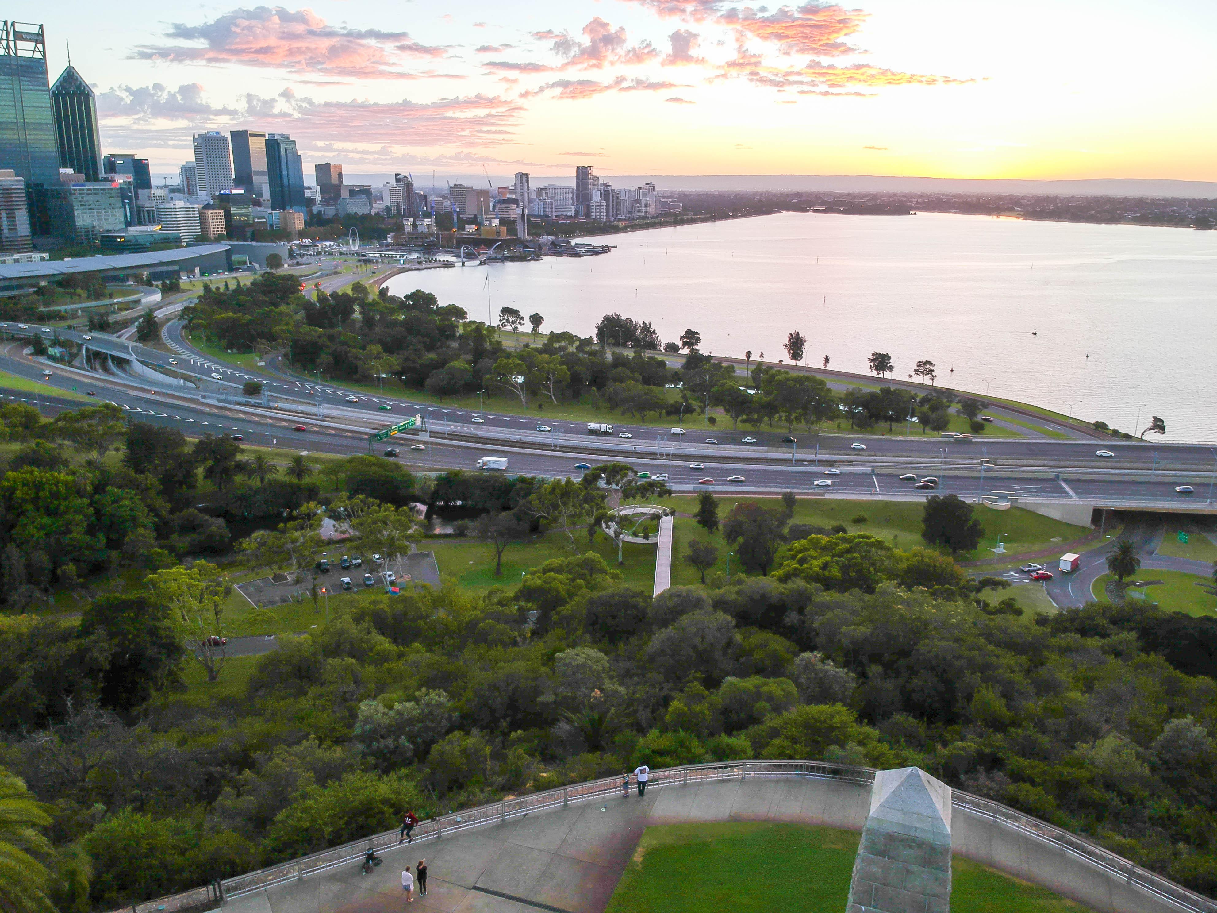 DJI Spark Perth Skyline