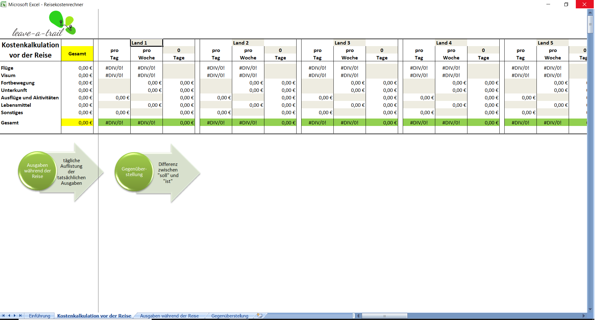 Rechner Excel