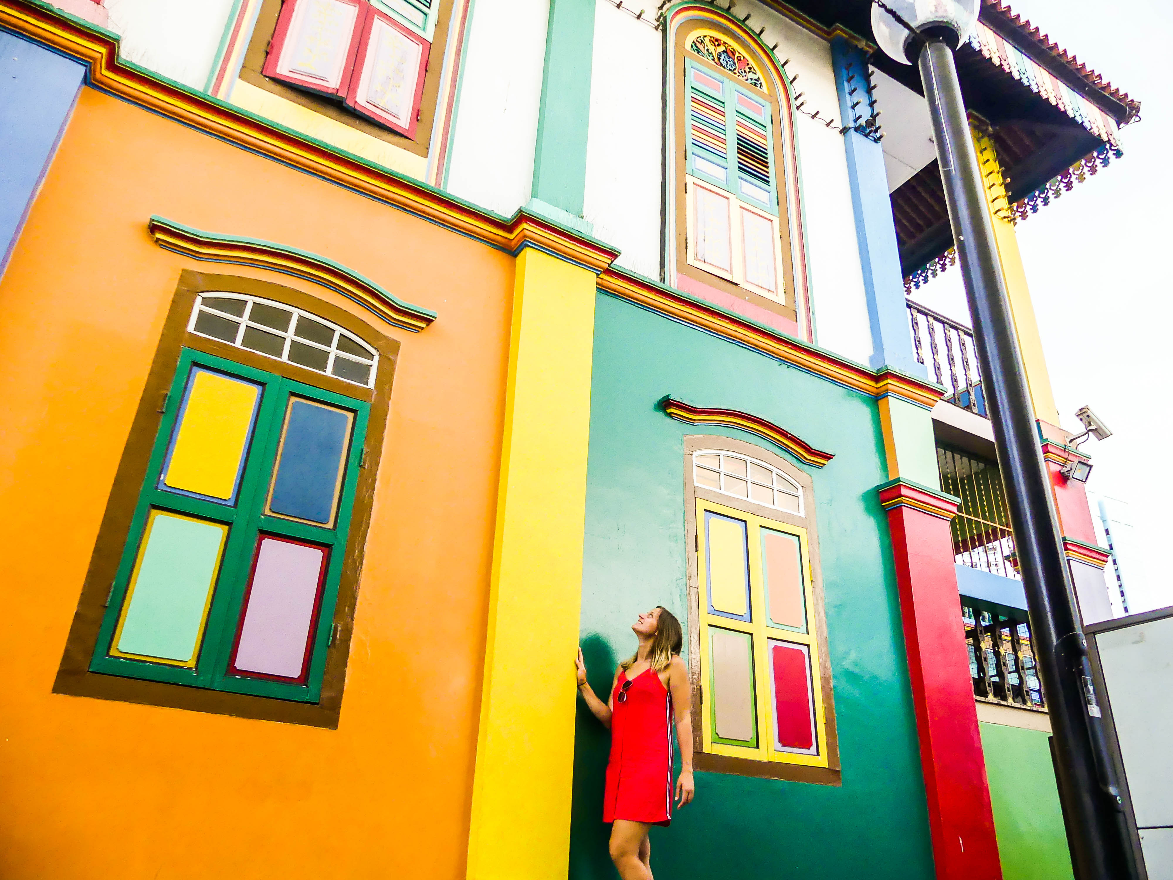 Little India buntes Haus
